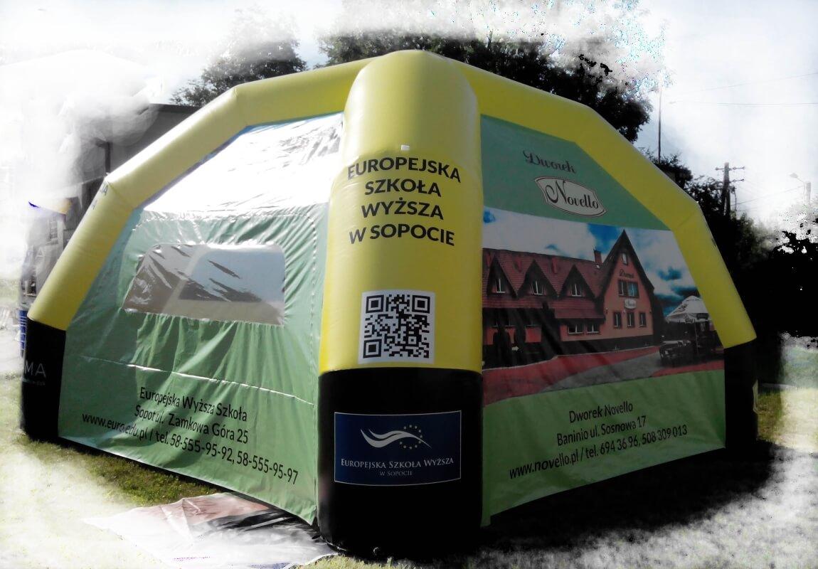 Pneumatyczne namioty na zamówienie