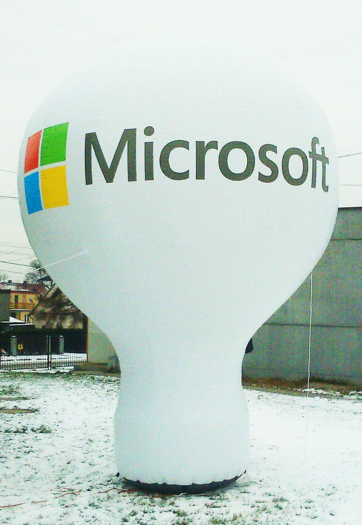 Balon reklamowy dla Microsoft