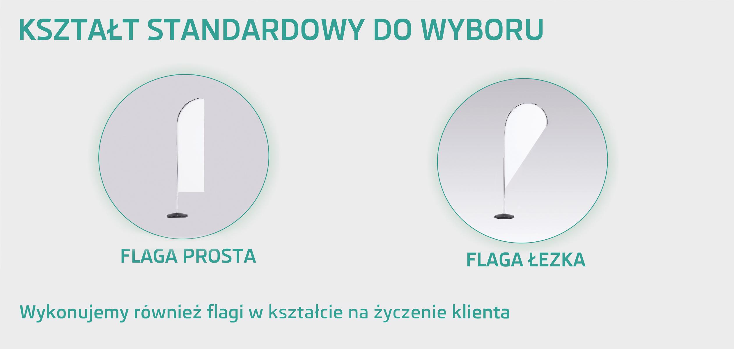 Kształt flagi reklamowej